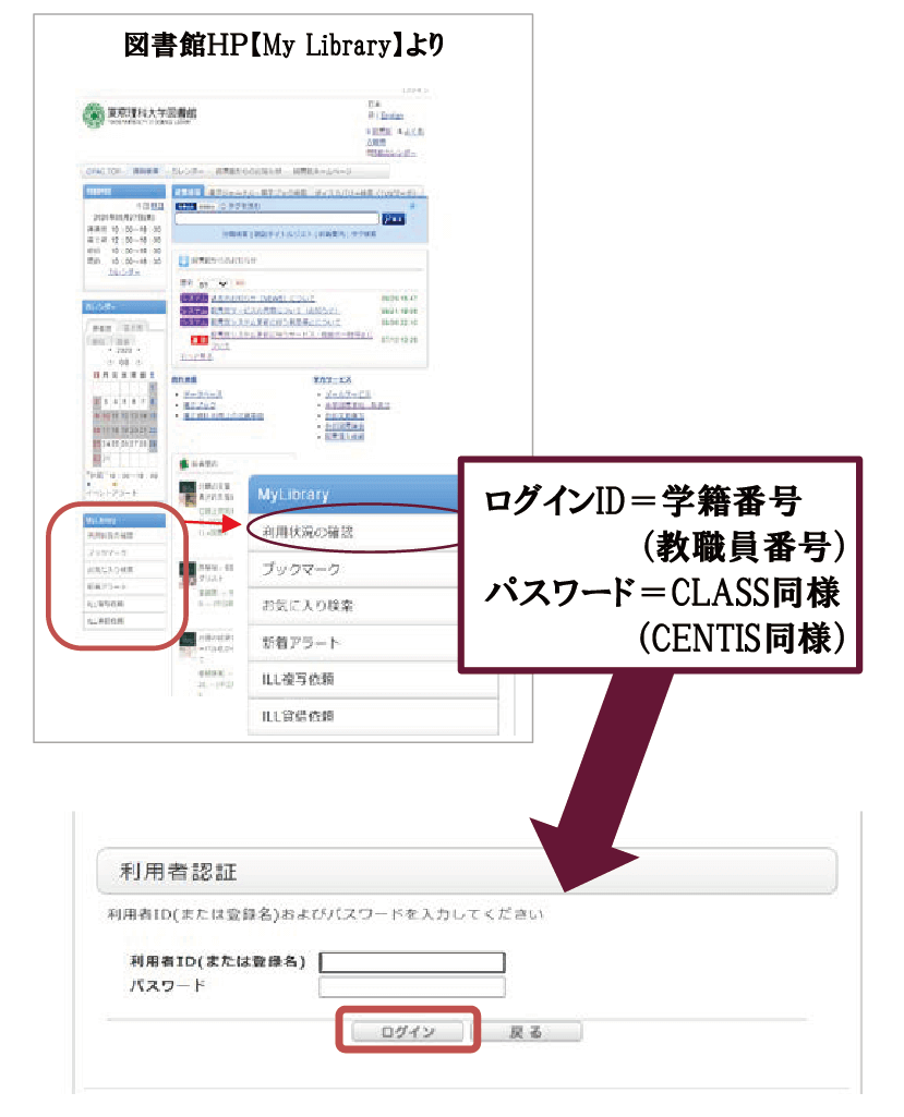 My Libraryログイン方法